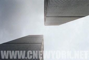1999 : coup d'oeil sur les tours jumelles. (Photo Didier Forray)