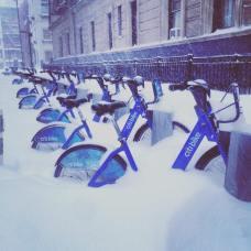 Les City Bike sous la neige