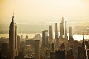 L'Empire State building et Hudson Yards.
