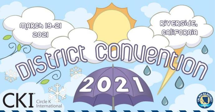 Graphic that advertises the District Convention 2021