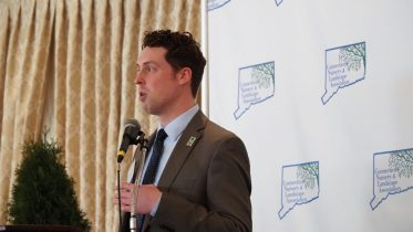 CNLA President Dustyn Nelson gives remarks on the Green Industry Economic Impact Study