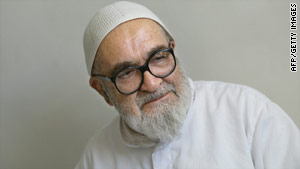 Grand Ayatollah Hossein Ali Montazeri, pictured in 2005, was a key figure of Iran's Islamic revolution 30 years ago.