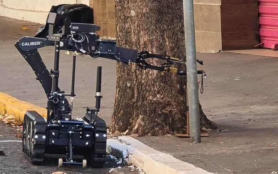 Robô da PM é usado para desarmar explosivos deixados por grupo criminoso em Araçatuba