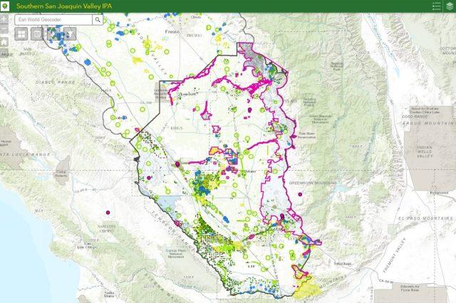 Screenshot of San Joaquin Valley IPA GIS Map.