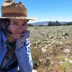 Photo of Ioana in the field