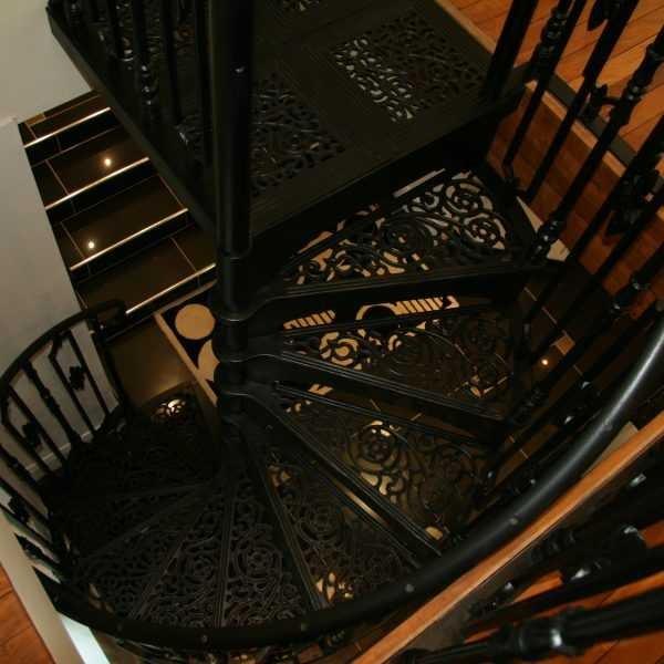 Black Modern Metal Wrought Iron Round Stair Railings Interior For | Modern Metal Railings Interior | Modern Style | Horizontal | Wood | Simple | Custom