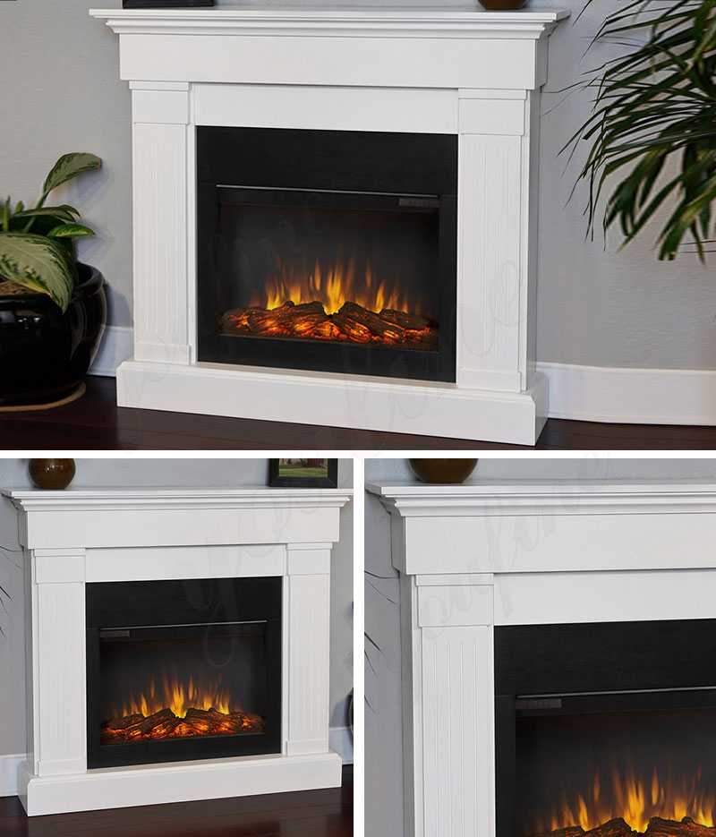 Modern White Marble Fireplace Mantel for Home Decor for ...