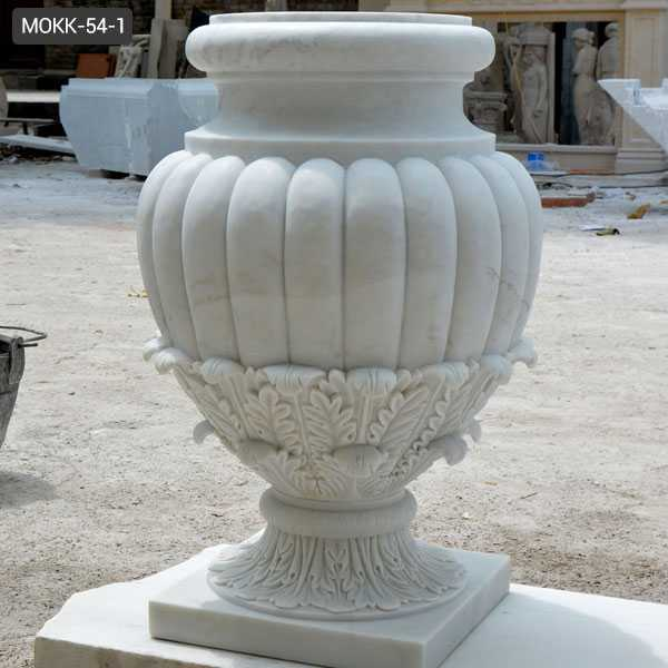 Beautiful Customized Round Marble Planter Pots Home Or