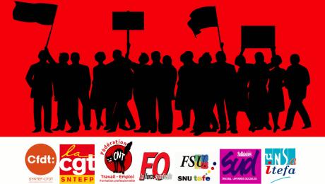 18 mai 2017 intersyndicale nationale du ministère du travail CNT-CGT-CFDT-UNSA-FSU-FO-SUD contre les suppressions de postes