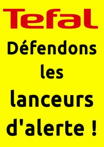 Affiche Téfal Défendons les lanceurs d'alerte !