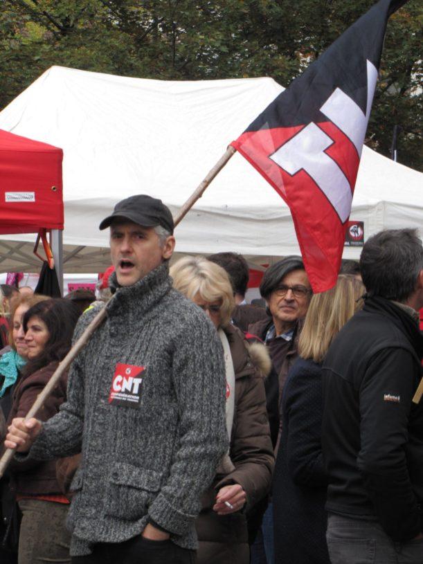 CNT - Rassemblement du 16 octobre 2015 à Annecy en soutien à l'inspectrice du travail Laura Pfeiffer et au lanceur d'alerte