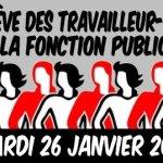 Fonction publique : toutes et tous en grève le 26 janvier!