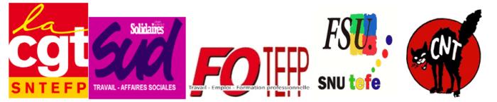 intersyndicale CNT CGT FSU FO SUD ministère du travail