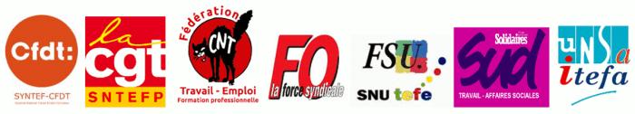 intersyndicale nationale du ministère du travail CNT-CGT-CFDT-UNSA-FSU-FO-SUD contre les suppressions de postes