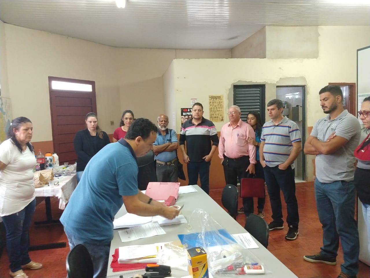 O assessor da CNTRV, Josenildo Melo, participou da eleição.