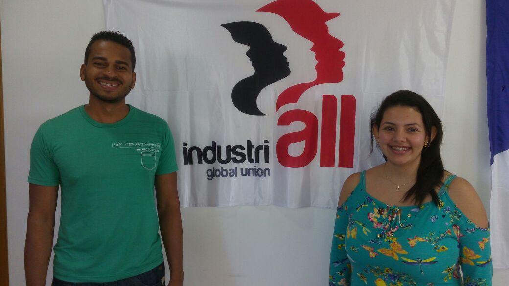Welington e Jocelaine - Jovens sindicalistas do ramo vestuário da CUT