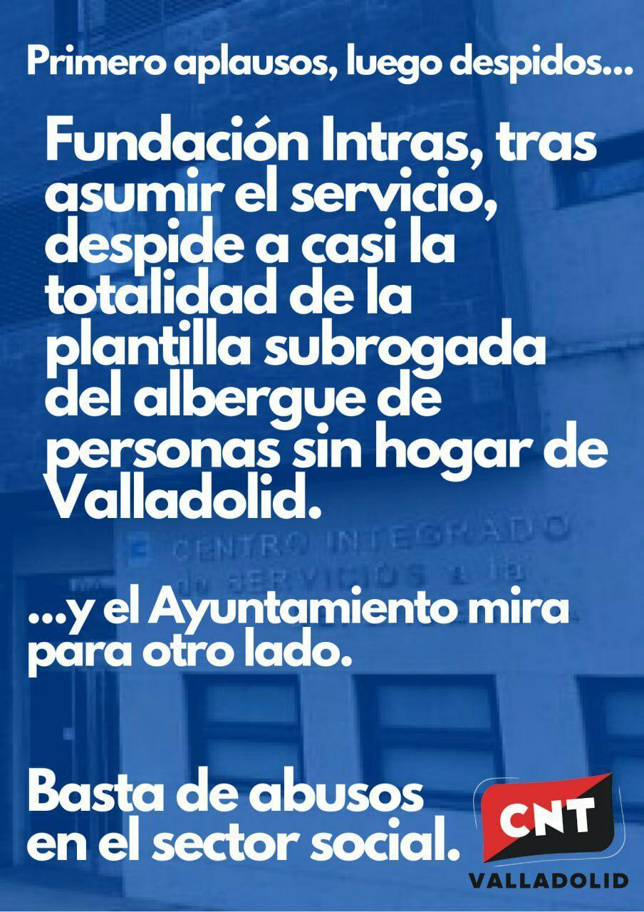 Fundación Intras despide a casi toda la plantilla del albergue municipal para personas sin hogar