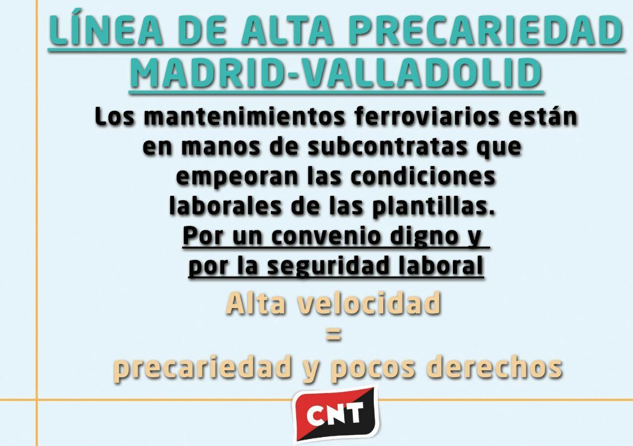 CNT sigue luchando por la seguridad en el transporte ferroviario