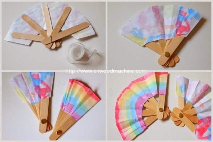 3 How to make folding popsicle stick fa