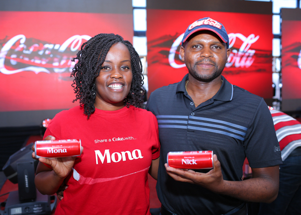 mona-karingi-the-coca-cola-marketing-manager-and-nick-mruttu-the-coca-cola-country-manager