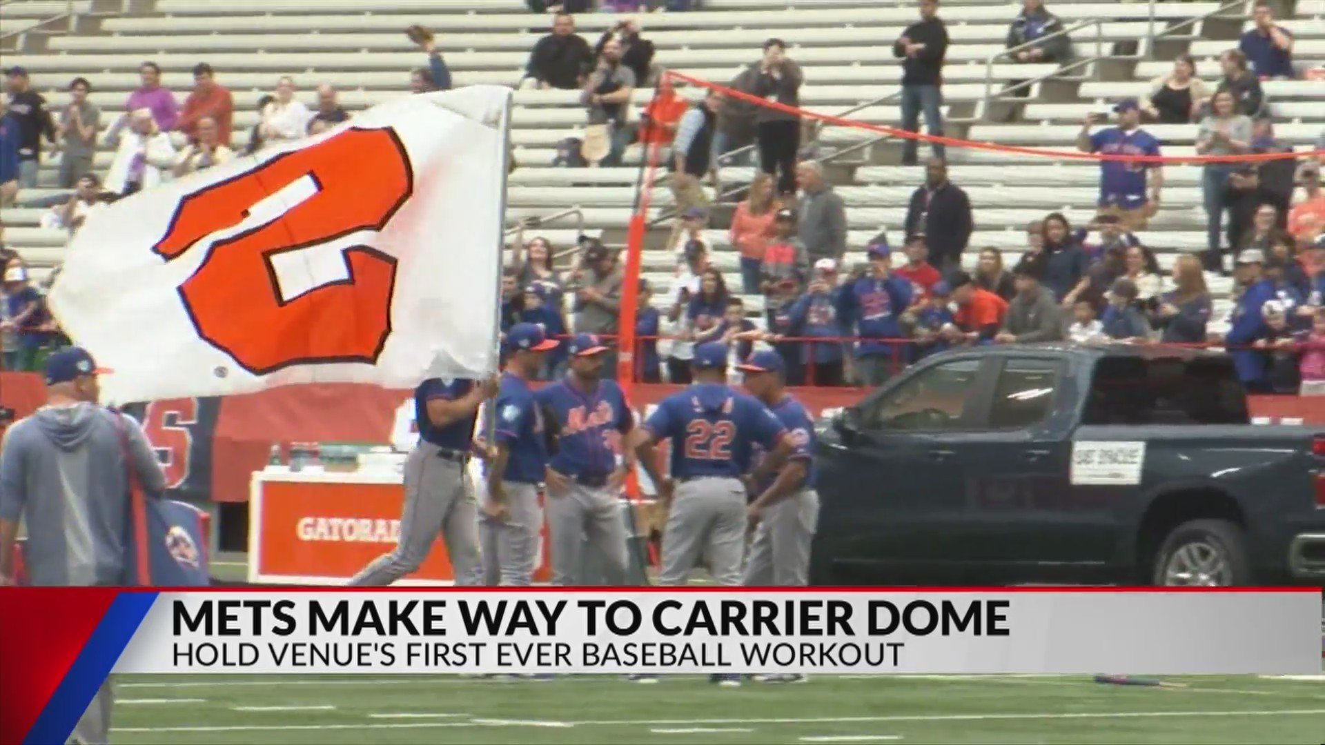 Mets hold workout at Carrier Dome