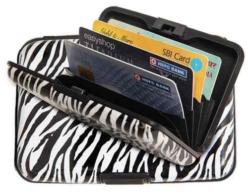 14e1169d0 Billetera Tarjetero Aluminio Estampada Animal Print Diseños ...