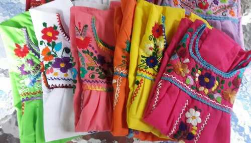 d104f07b5b Vestidos Mexicanos Bordados A Mano Para Niñas » Mayorista de ropa