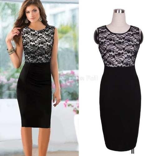 Vestido de encaje negro mercadolibre