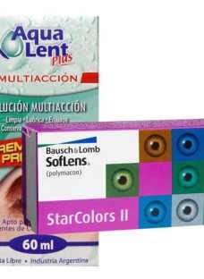 013e71eeed Lentes Contacto Color Soflens Star Colors Ii + Aqualent 60ml