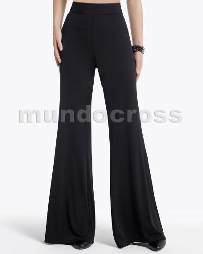 380aa03828 Talles Grandes Finos Pantalones Palazzos En Seda Fría Noche ...