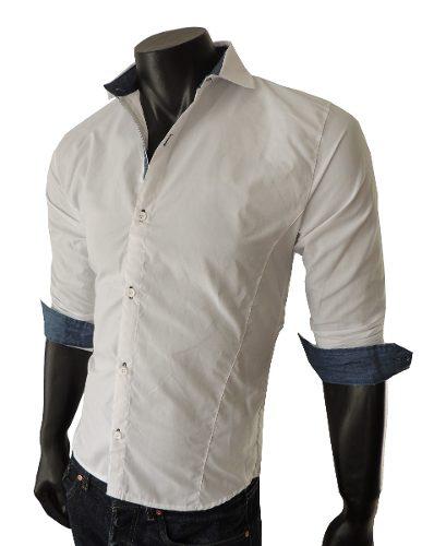 e9e113c965c56 ... Camisas Hombre Entalladas Slim Fit Batista – Lanzamiento.  http   articulo.mercadolibre.com.ar MLA-625016365-