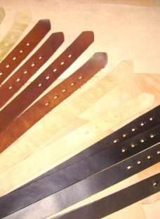 5 Tiras Para Cinto Vaqueta Pintadas