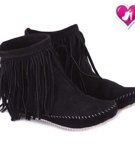 Bota Botineta Cuero Con Flecos Modelo Zamba De Shoes Bayres