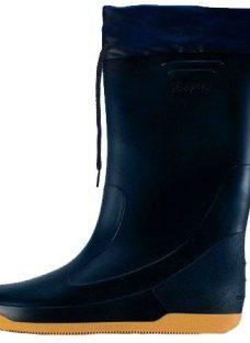Bota De Lluvia Náutica C/ Cordón Azul Ajustable Goma Y Pvc