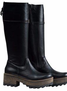 Botas Mujer Caña Alta Zapatos Plataforma Almacen De Cueros