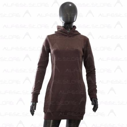 Buzo Dama Largo Algodón Con Capucha - Tipo Vestido - Alfest