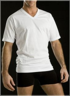 Camiseta Manga Corta Dos Reyes 100% Algodon Cuello V