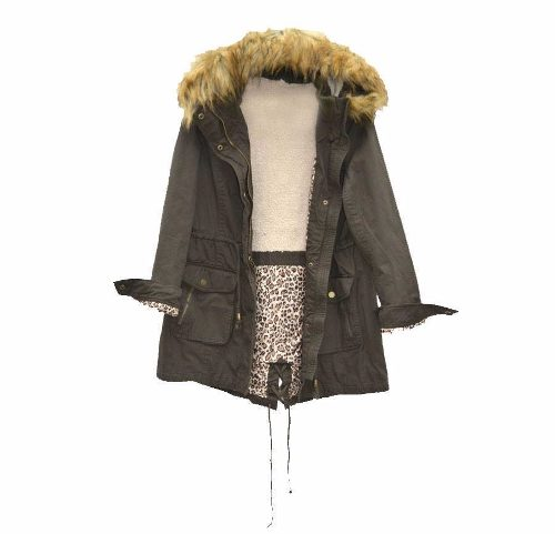 Campera Parka Militar Corderito Print Mujer The Big Shop » Mayorista ... 0ab29da2b706