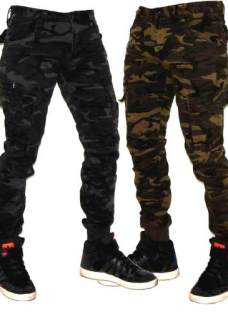 Cargos Camuflados Chupin Estilizados Pantalones Jeans710