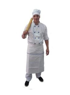 Chaqueta Chef Unisex Faldon Y Gorro Varios Colores