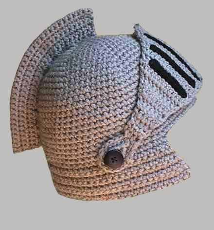 Gorro Tejido Al Crochet Modelo Medieval