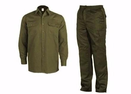 Kit Ropa De Trabajo Verde Camisa Y Pantalon