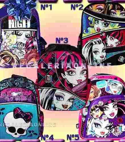Mochila Monster High Espalda Grande 18'' Licencia Original