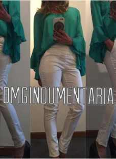 Pantalon Mujer Vestir Gabardina Elastizadoelstizado Chupin