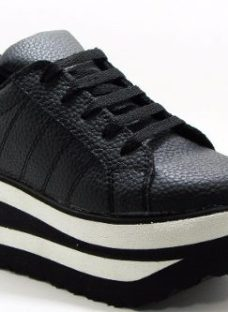 Zapatillas Panchas Plataforma Blancas