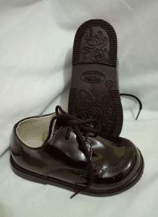 Zapato Bautismo/fiesta/comunion/ - Bebe-niño C/cordón Negro*