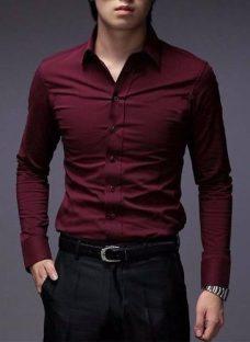 Hot Sale!! Camisas Entalladas Elastizadas Slim Fit