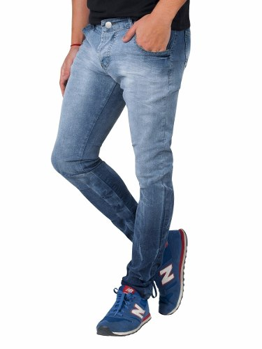 Jean Cloud Chupin De Denim Elastizado Slim Fit