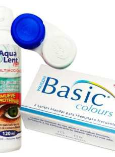 Lentes Contacto Trikolor Basic Colours +aqualent120 +estuche