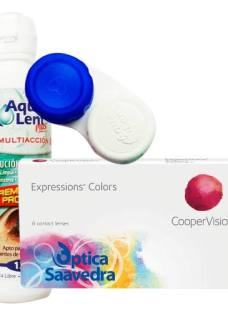 Lentes De Contacto Expression Colors Tricolor + Aqualent 120
